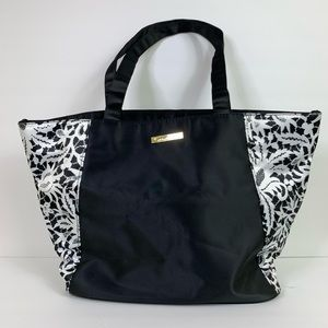 Oscar De La Renta Nylon Bag Black & White NWOT
